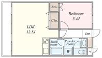 間取図/区画図:間取り図(反転タイプです)