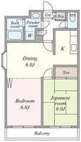 間取図/区画図:キッチンが独立し、使いやすい間取りです。