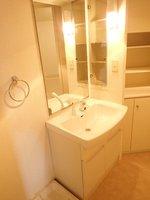 洗面室:シャワー付き独立型洗面化粧台