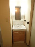 洗面室:シャワー付独立洗面台