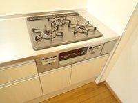 キッチン:3口ガスコンロ
