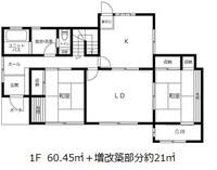 間取図/区画図:1階間取図、増改築あり