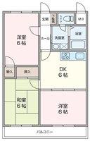 間取図/区画図:間取図(募集のお部屋は反転タイプです)