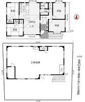 間取図/区画図:敷地約60坪、整形地
