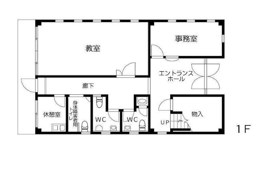 間取図/区画図:1階平面図。天井高約2.6m