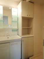 洗面室:シャワー付き独立洗面化粧台