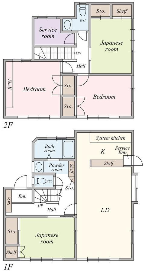 間取図/区画図:4LDK+S、窓付きサービスルームは大容量の収納スペースとしても利用可能、これで住空間もスッキリ広々。