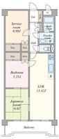 間取図/区画図:間取図(和室・洋室出窓あり)