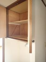 収納:洗濯機置き場上部収納