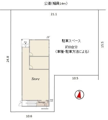 間取図/区画図:区画図・1階間取図