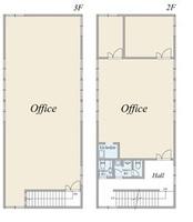間取図/区画図:2階・3階部分 間取図